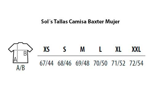 47307bc271 Guía de Tallas Blusa Baxter para Mujer