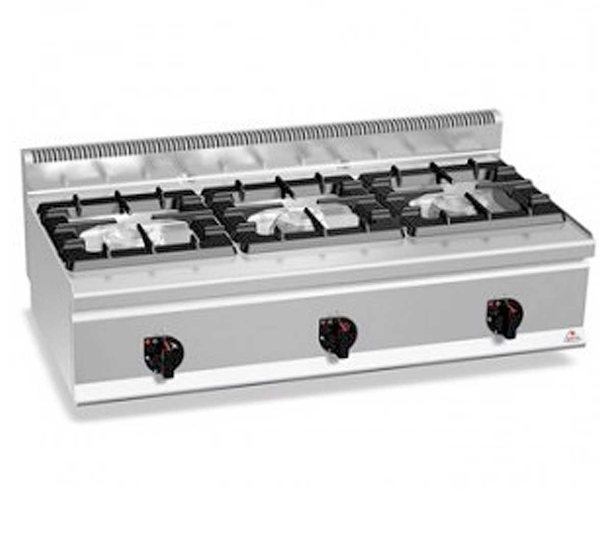 Cocina serie 600 sobremesa high de bertos - Fogones a gas ...