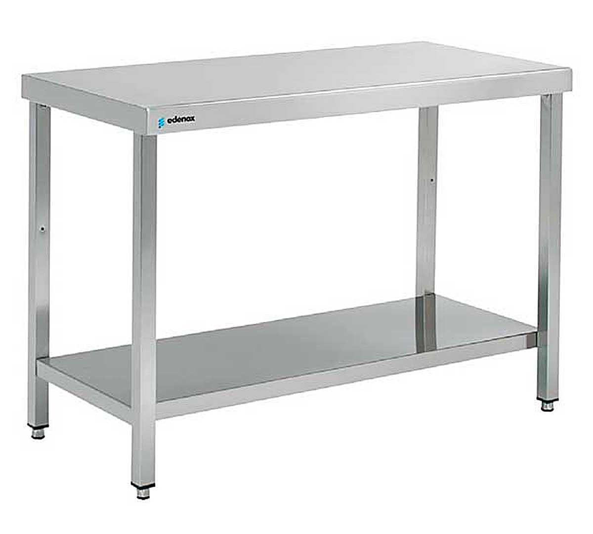 Mesa central gama 600 de edenox for Mesas de trabajo para cocina