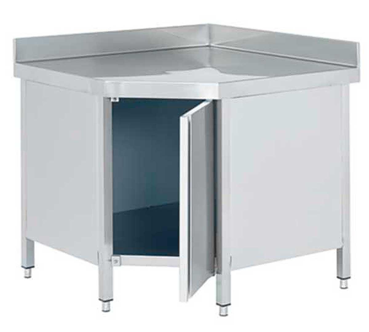 Mesa de ngulo 90 con puertas de edenox - Mesa esquinera cocina ...