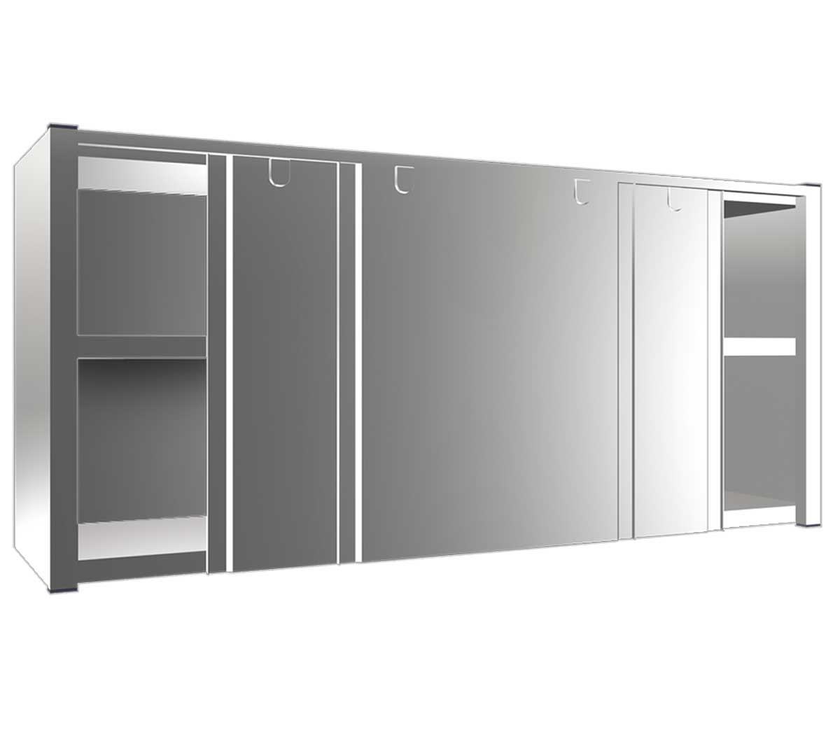 Armario de puertas correderas fricosmos for Armario cocina puertas correderas