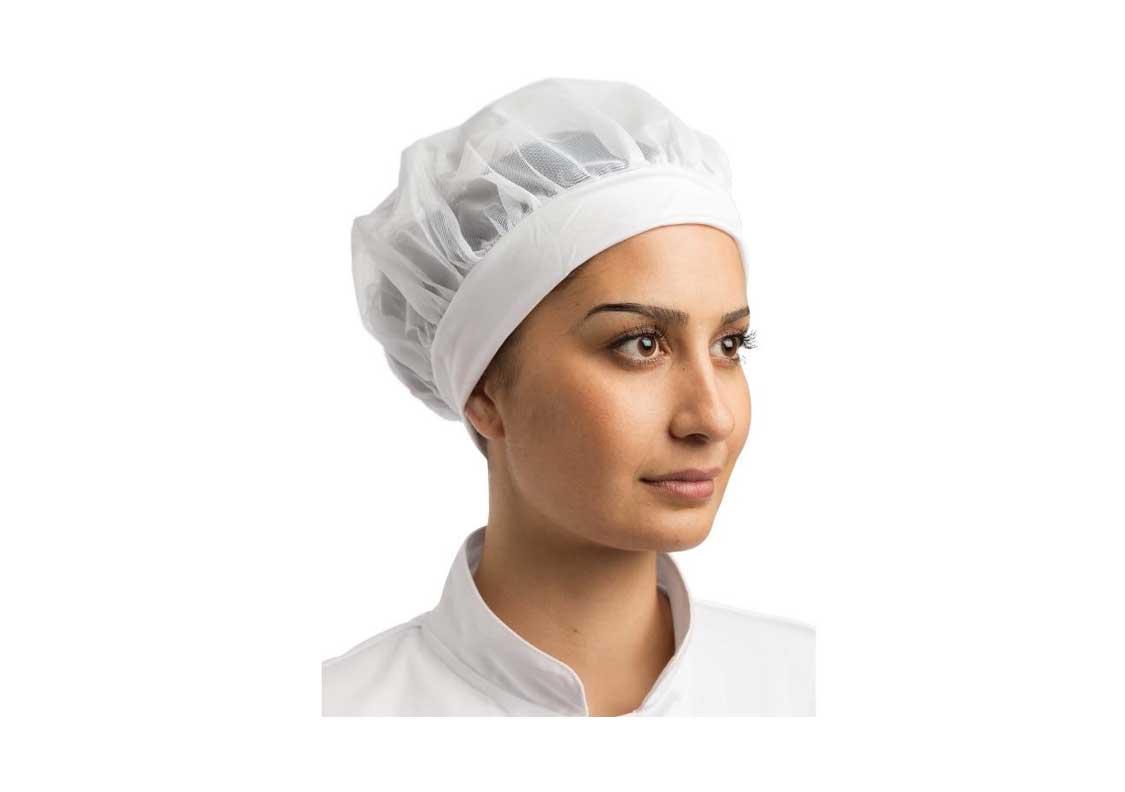 Textil   Gorros de Cocina   Gastronoble Cofia Redecilla Blanca. Foto 1 6ff152f0185