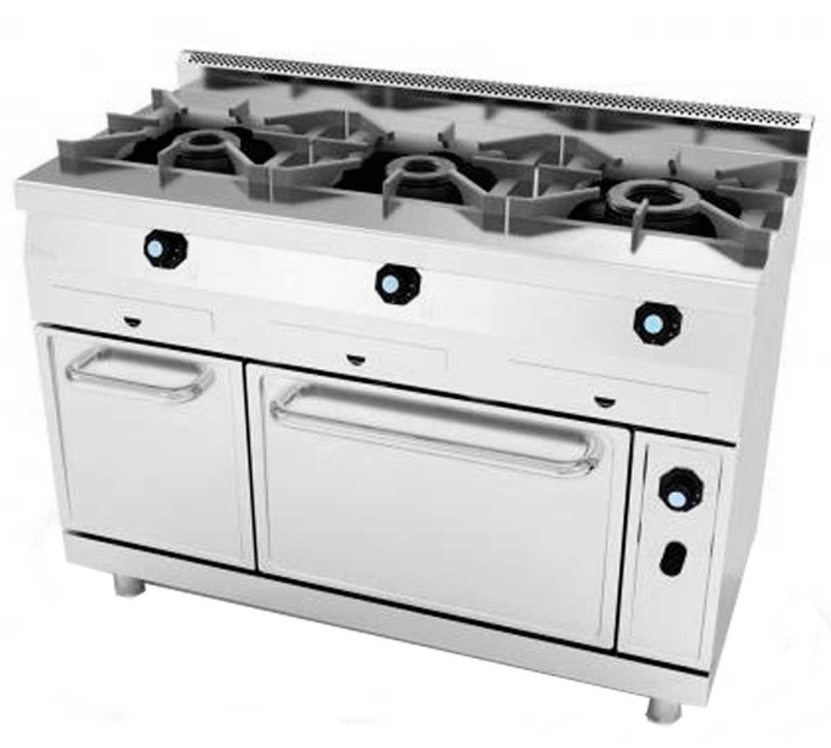 Cocina serie 600 gas horno de jemi for Horno con fogones