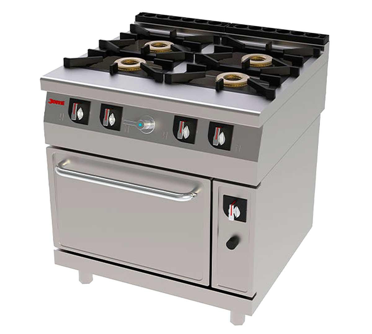 Cocina serie 750 chef horno de jemi for Horno con fogones