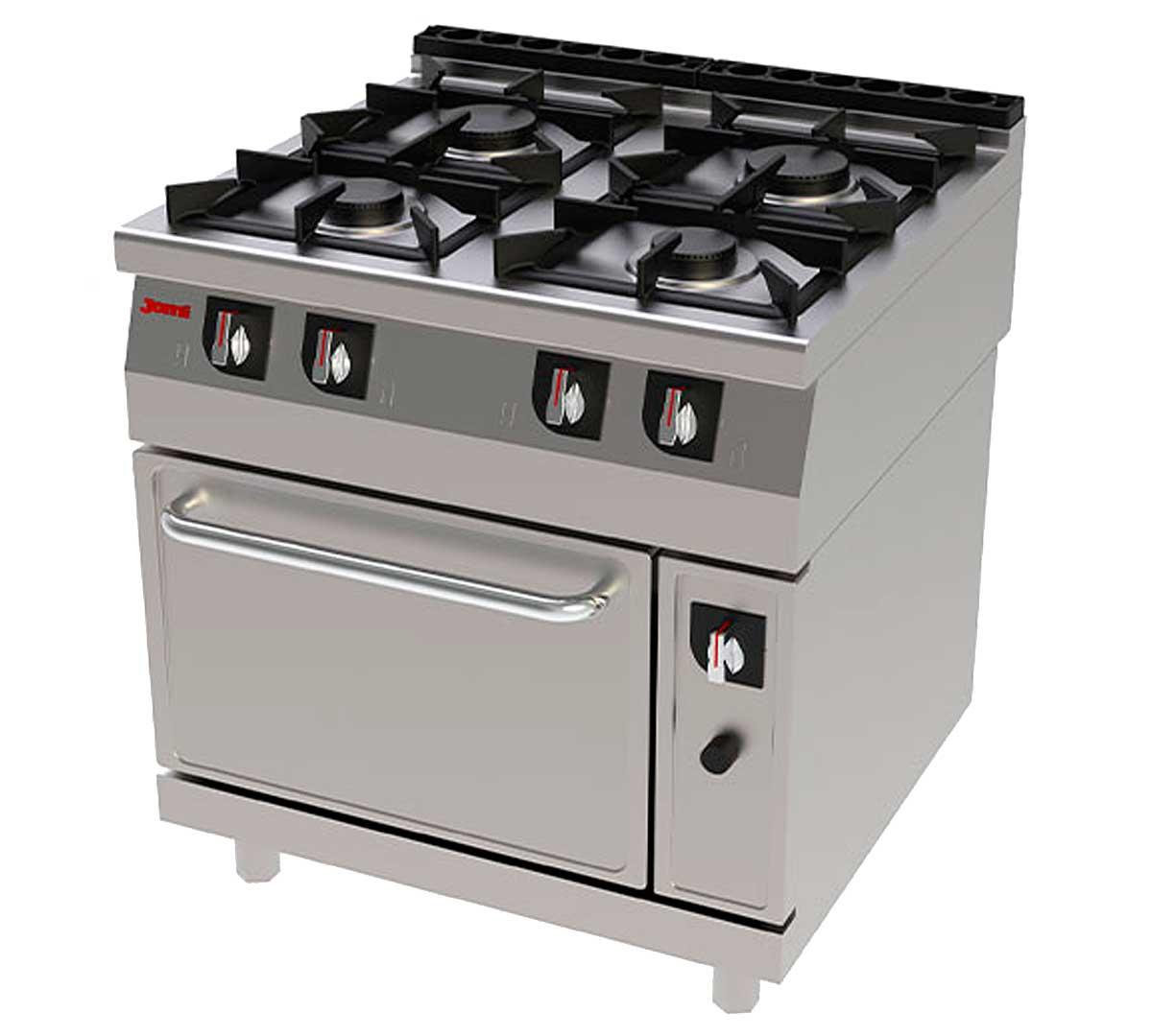 Cocina serie 750 eco horno de jemi for Horno con fogones