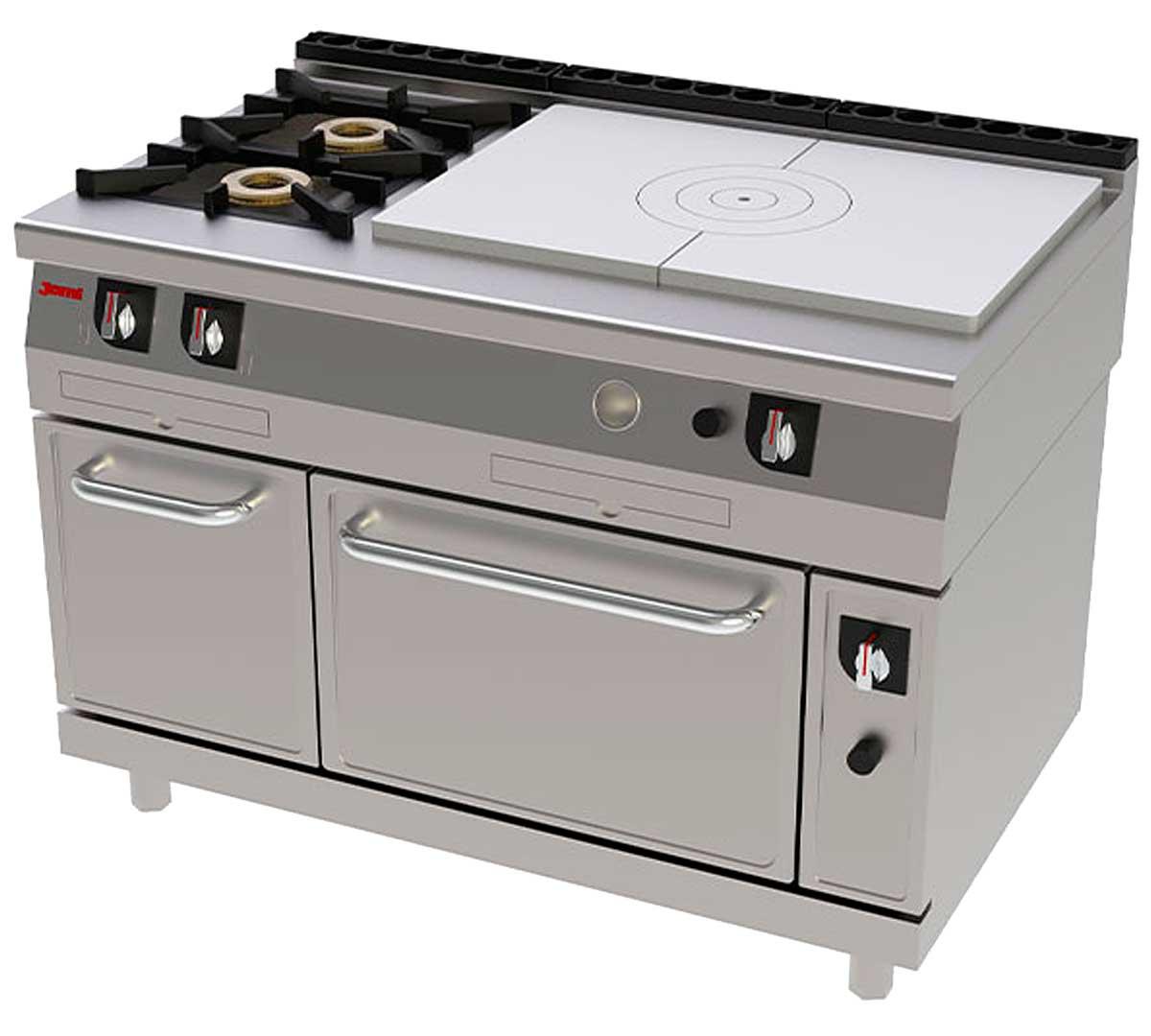 Cocina serie 750 francesa horno de jemi for Horno con fogones
