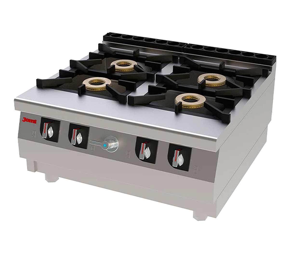 Cocina sobremesa jemi serie 750 chef - Fogones a gas ...