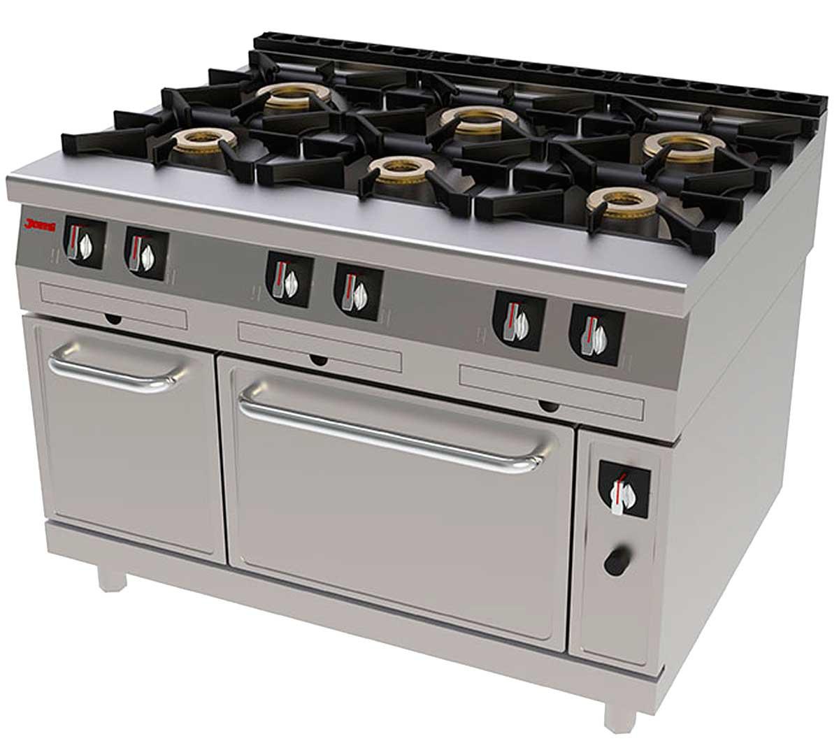 Cocina serie 900 gas horno de jemi for Cocina y horno de gas