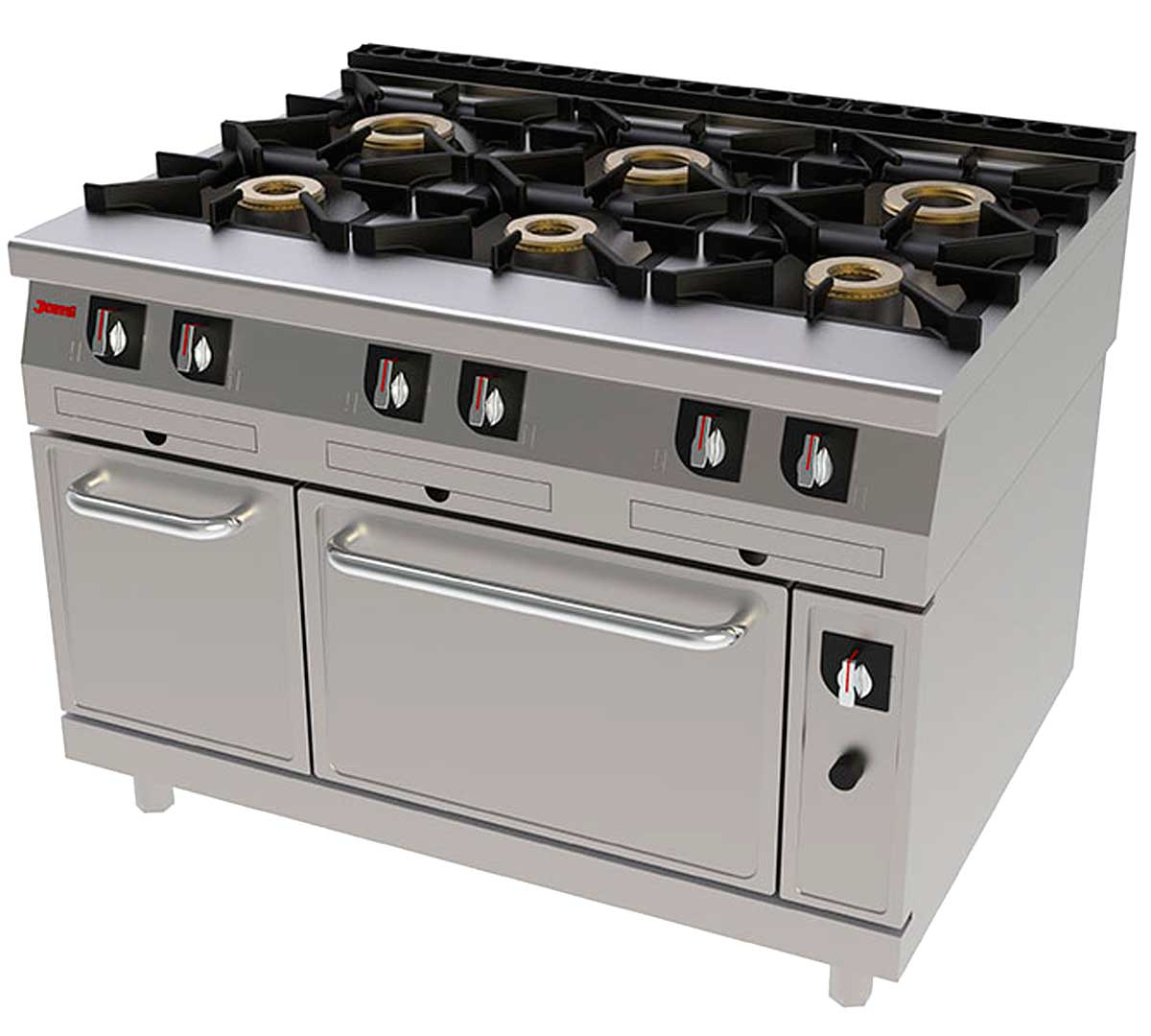 Cocina serie 900 gas horno de jemi for Fogones industriales a gas