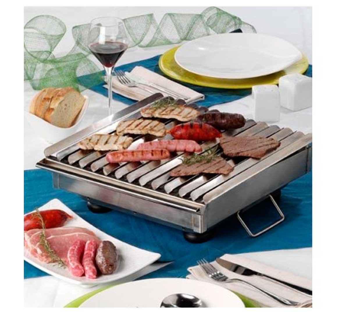 Barbacoa miracor sobre mesa - Barbacoa acero inoxidable ...