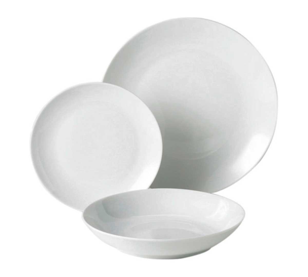 vajilla porcelana blanca de olympia