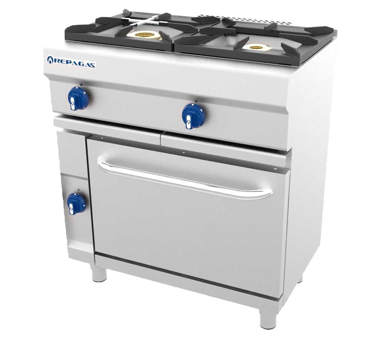 Cocina serie 550 modular horno de repagas for Horno con fogones