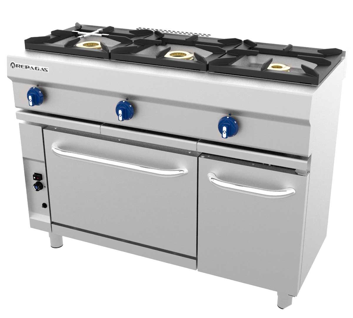 Cocina serie 550 modular horno de repagas - Fogones a gas ...