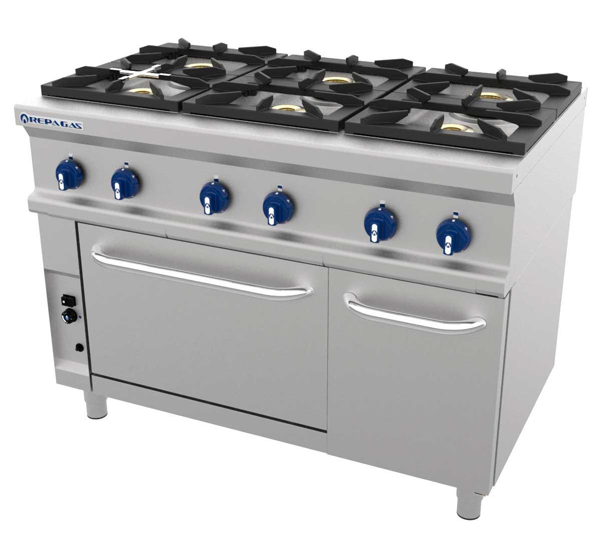 Cocina serie 750 lc con horno de repagas for Cocinas repagas