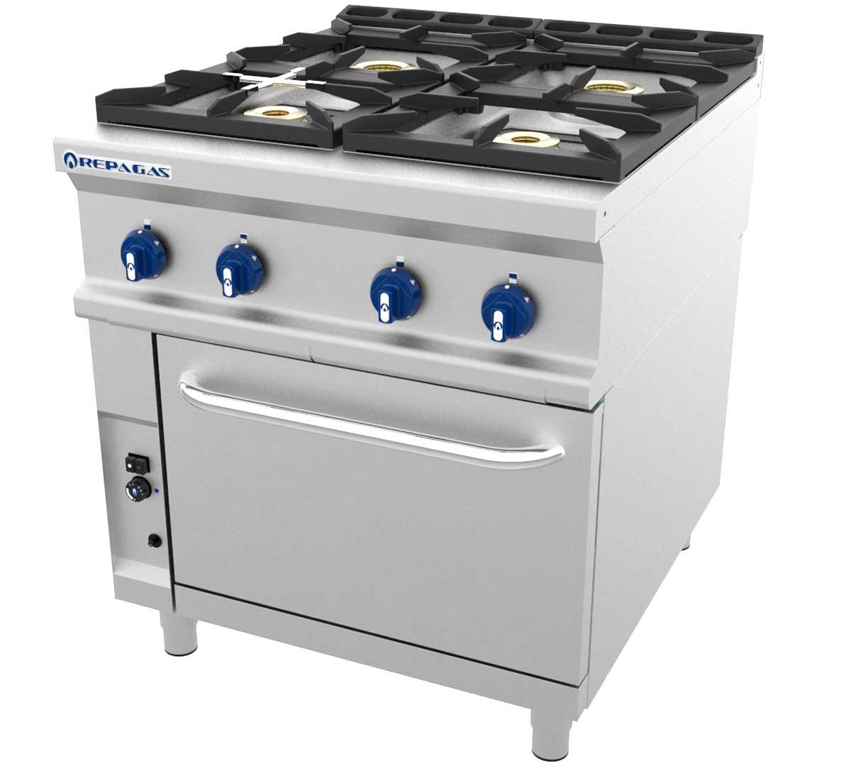 Cocina serie 900 gas horno de repagas for Horno con fogones