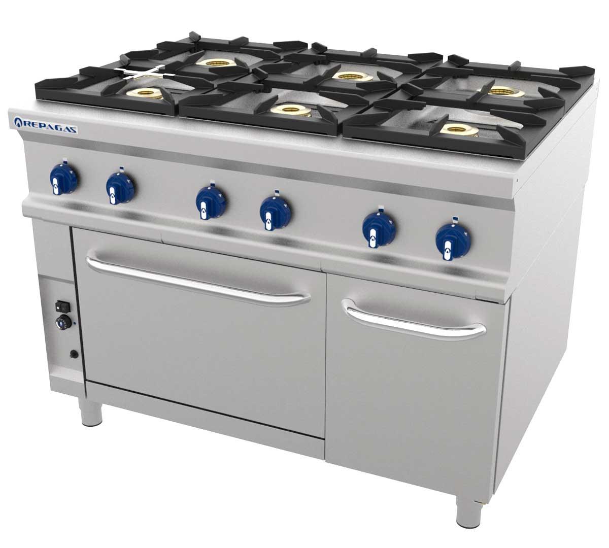 Cocina serie 900 lc horno de repagas for Horno con fogones