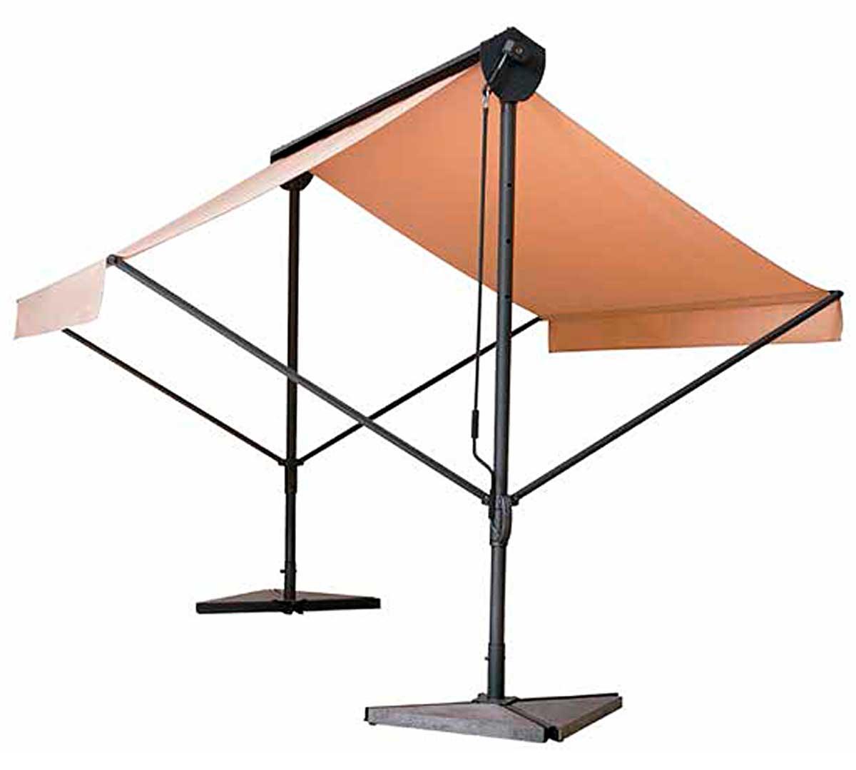 Parasol resol marquesina plegable for Alcampo sombrillas terraza