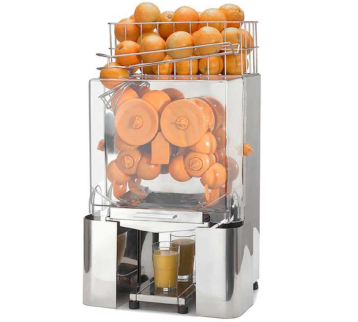 Resultado de imagen de maquinitas para hacer industrialmente zumo de naranja