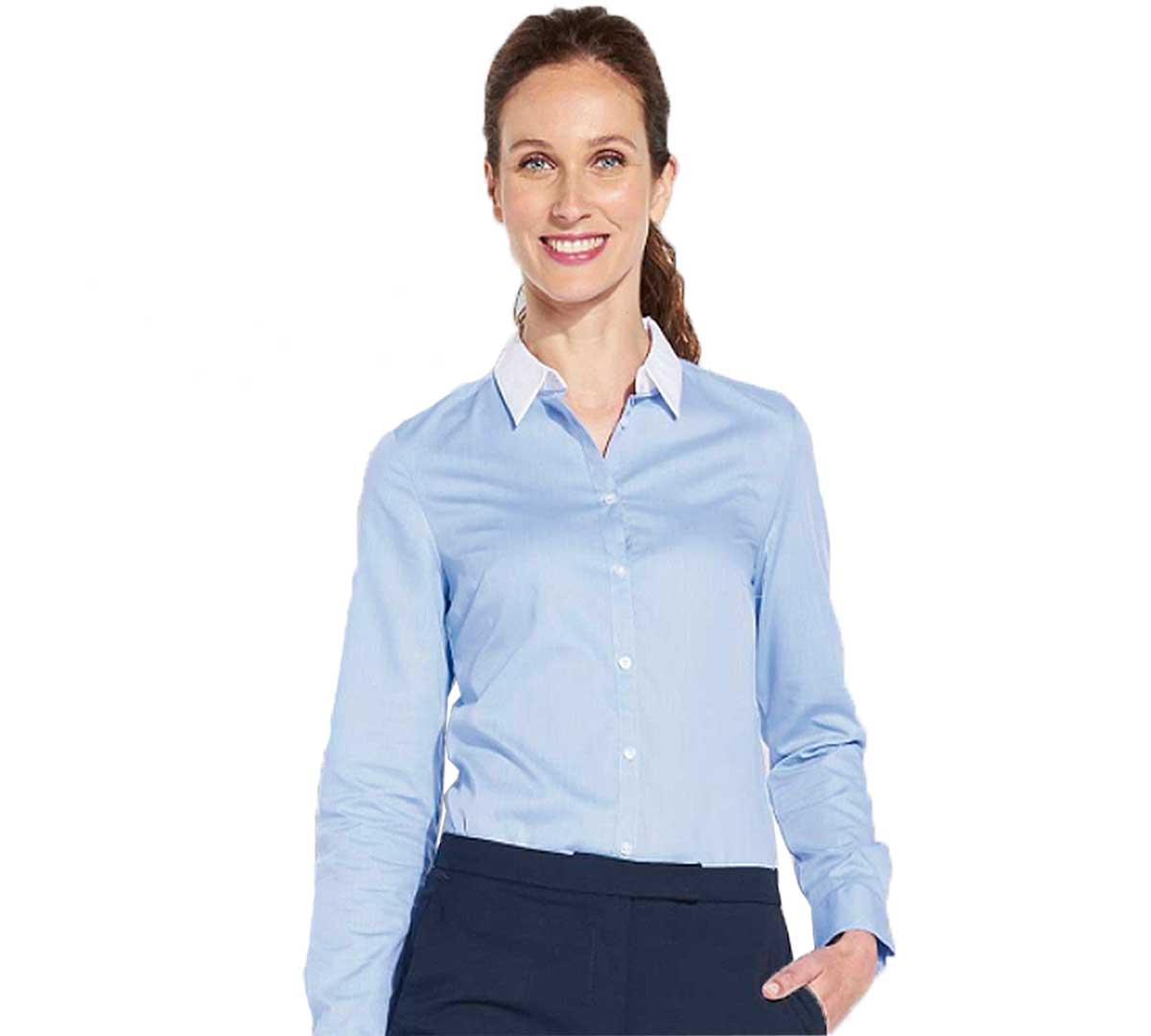 4402a2d820d7 Sol´s Blusa Fil-a-Fil M/L Mujer Belmont Azul Cielo - XS