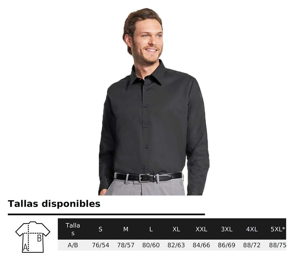 Sol 's – Hombre Elástico de camisa de manga larga Brighton