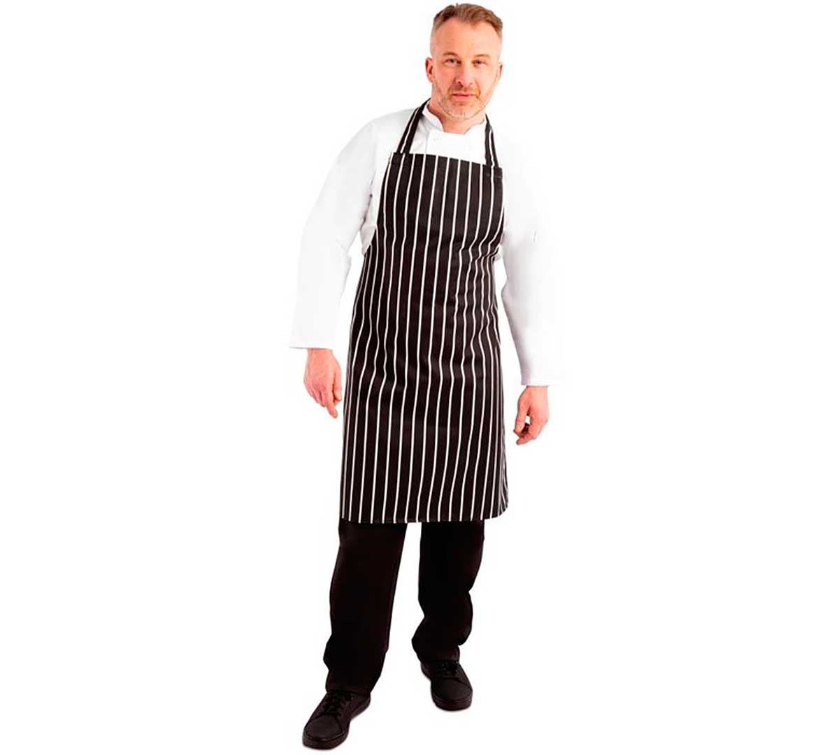 b5531685760b Whites Chefs Peto Rayas Negro/Blanco